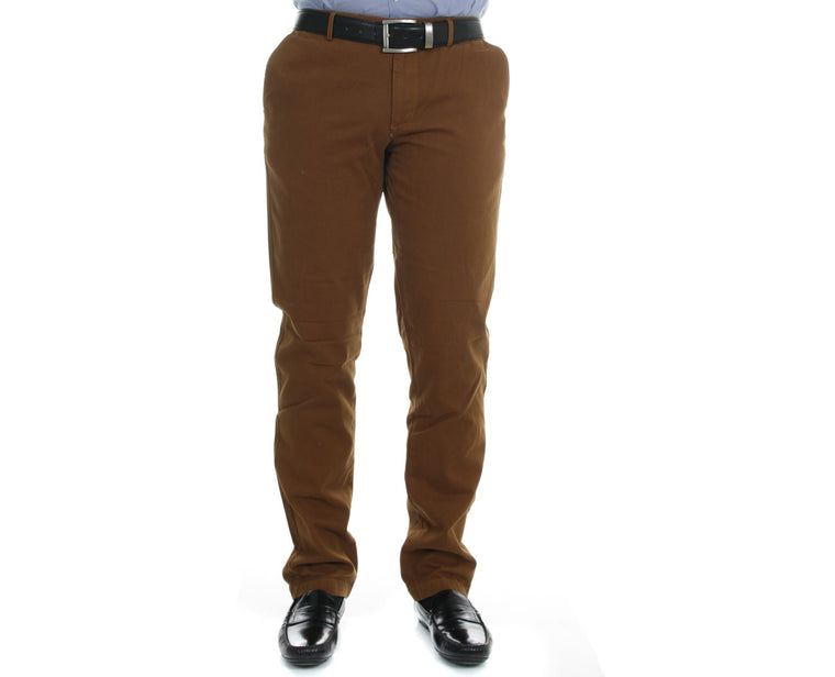 "Ανδρικό Παντελόνι Chino ""Effortless"" Compass-BURLYWOOD-44-kmaroussis.gr"