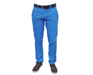 "Ανδρικό Παντελόνι Chino ""Vacation"" Battery-BLUE-30-kmaroussis.gr"
