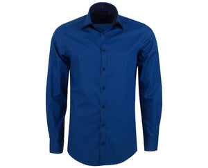 "Ανδρικό Πουκάμισο ""Improvisitory"" Slim Fit-BLUE-M-kmaroussis.gr"