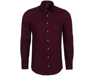 "Ανδρικό Πουκάμισο ""Yeartax"" Slim Fit Redmond-BURGUNDY-S-kmaroussis.gr"