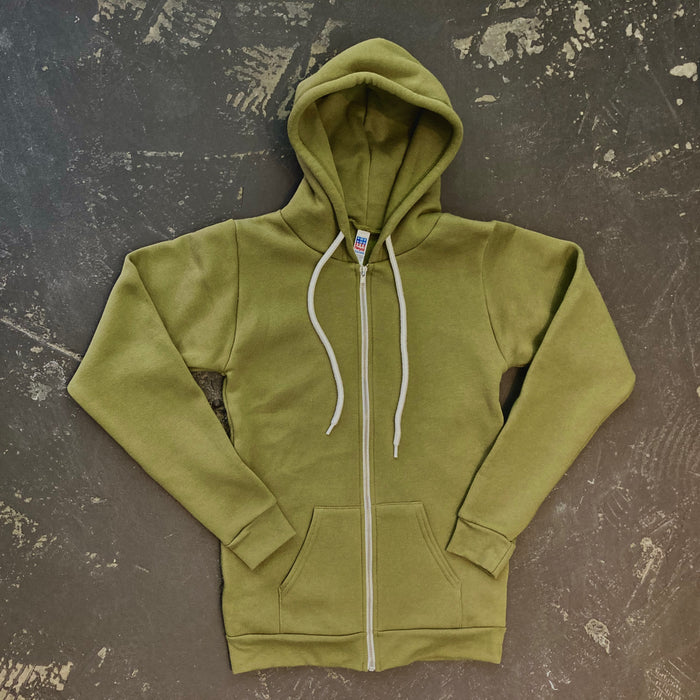Royal Apparel - Zip Hoodie in Olive