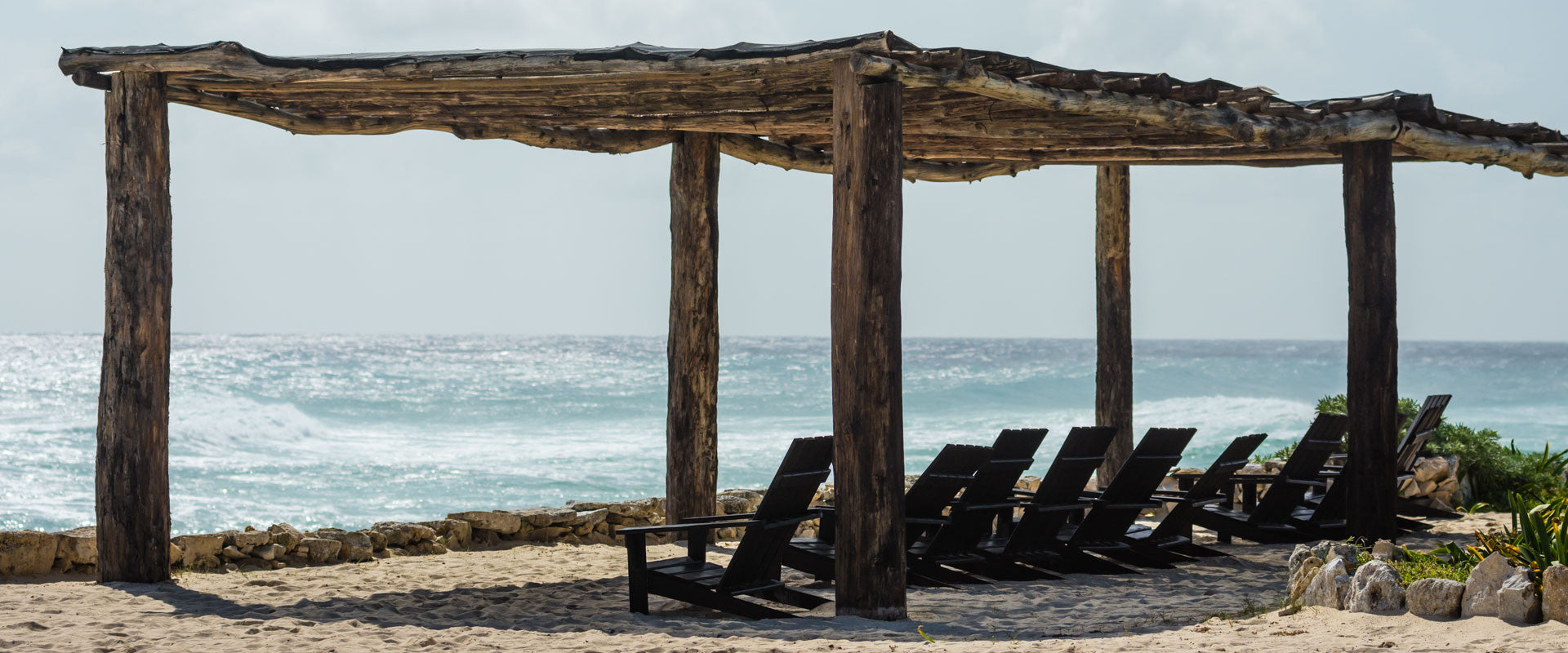 Chairs Under Beach Canopy