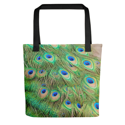Pretty Peacock Feathers Tote Bag