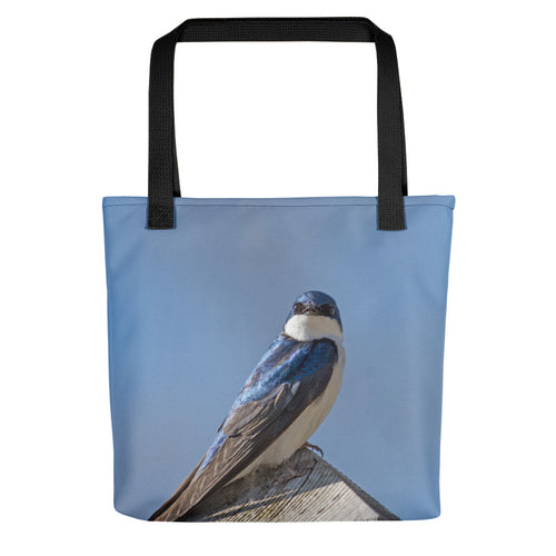 Bird Tote Bag, Nature Lover Gift, Stylish Overnight Tote, Swallow, Great Blue Heron