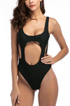 Charlotte - High-Waisted One-Piece with Cutout Underbust