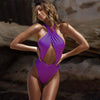 Vivian - Crossover Halter One-Piece