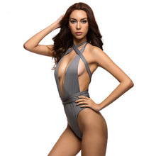 Houdini - Cross Strapped Deep-V One Piece