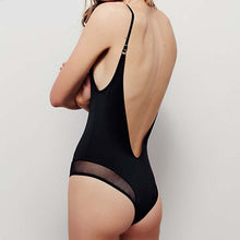 Beach Rave - Mesh V-Neck One Piece with Cheeky Back