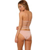 Hollywood - Plunging Neck One Piece with Stringed Back and Cheeky Backside