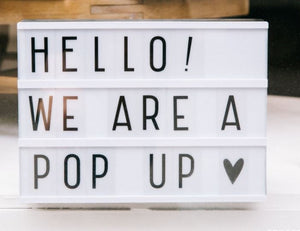 August 2017 Pop Up Shops
