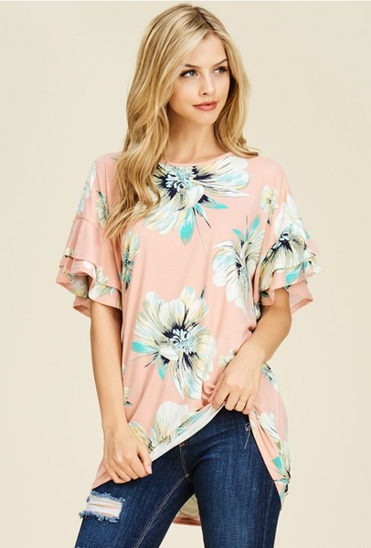 Time And Time Again Floral Top