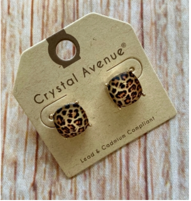 All About Leopard Stud Earrings