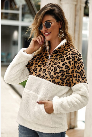 The Wild Side Leopard Sherpa