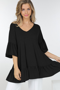 Basic Trends Black Blouse