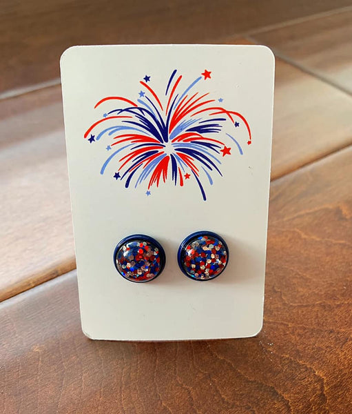 Independence Confetti Earrings  *2 Colors*