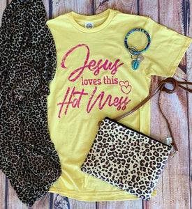Jesus Loves This Hot Mess Tee