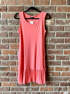 Sweet Like Candy Coral Tunic Dress