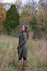 Back In Time Olive Cardigan