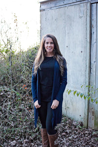 Back In Time Navy Cardigan