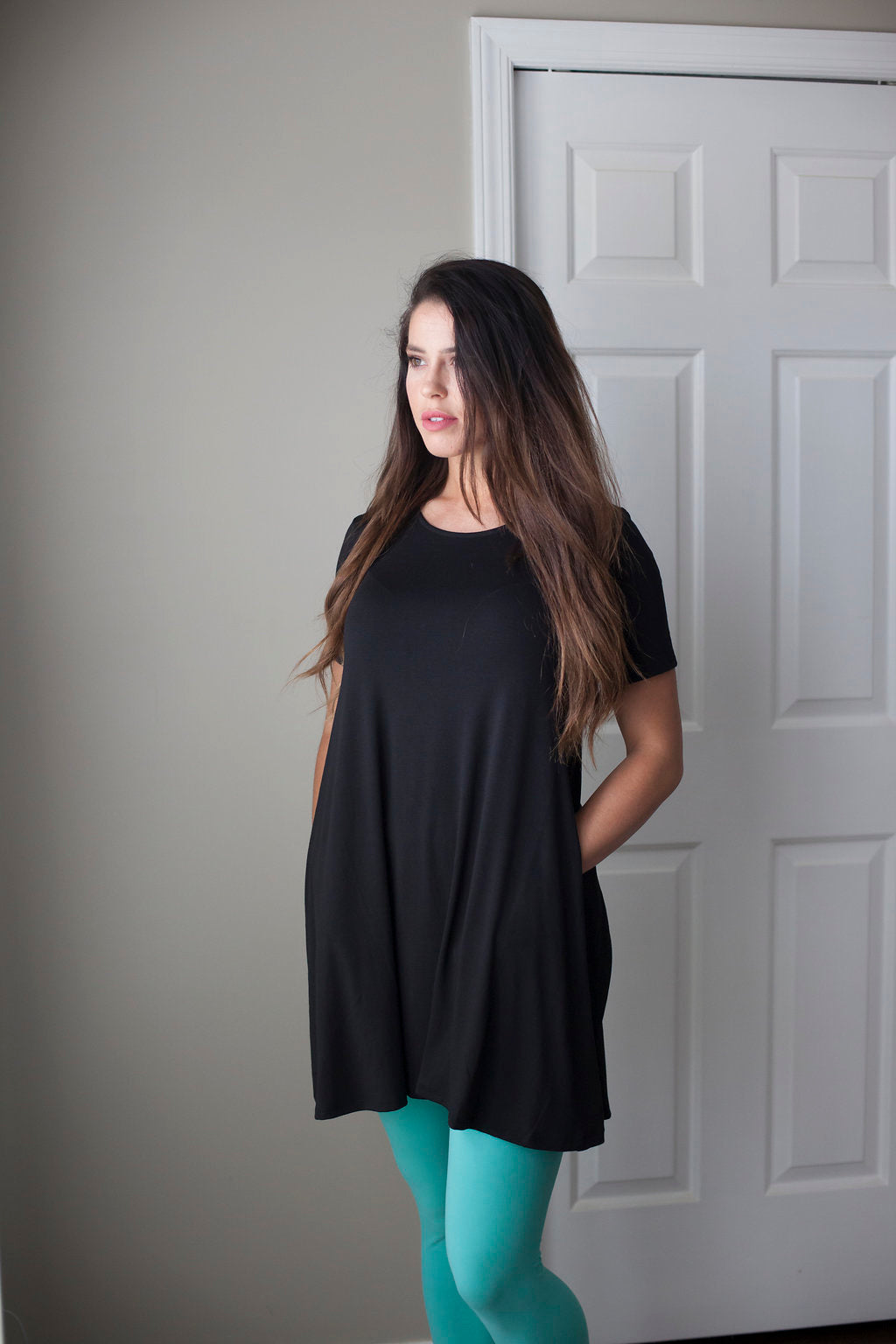 Everyday Fave Black Tunic Dress