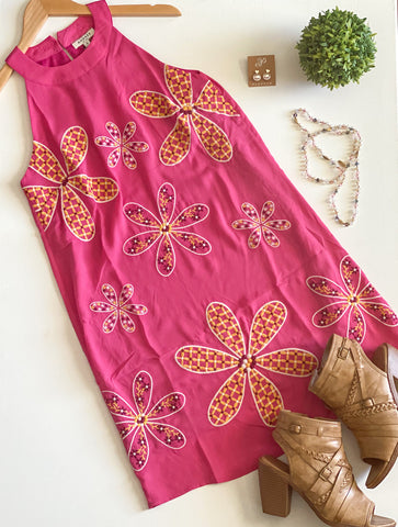 Summer Passion Magenta Floral Dress