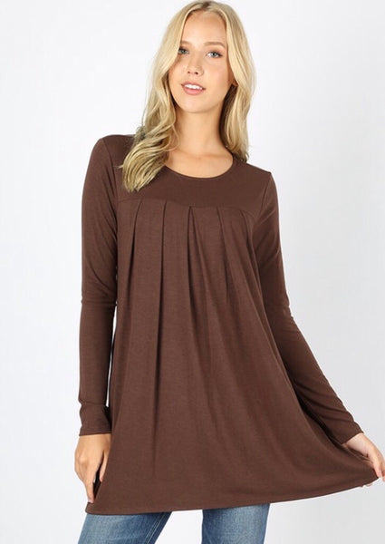 The Perfect Staple Brown Long Sleeve Blouse