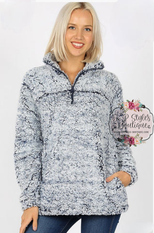 Baby It's Cold Out Navy Frosted Sherpa