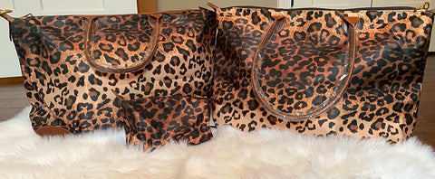Lavish Leopard Bags {3 Sizes Available}