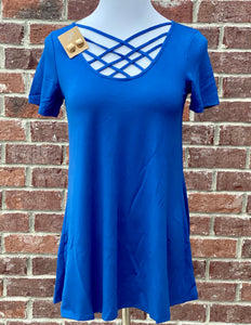Spice Things Up Sapphire Lattice Tee