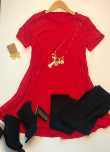 Everyday Fave Ruby Red Tunic Dress
