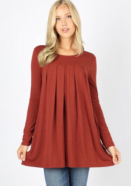 The Perfect Staple Rust Long Sleeve Blouse