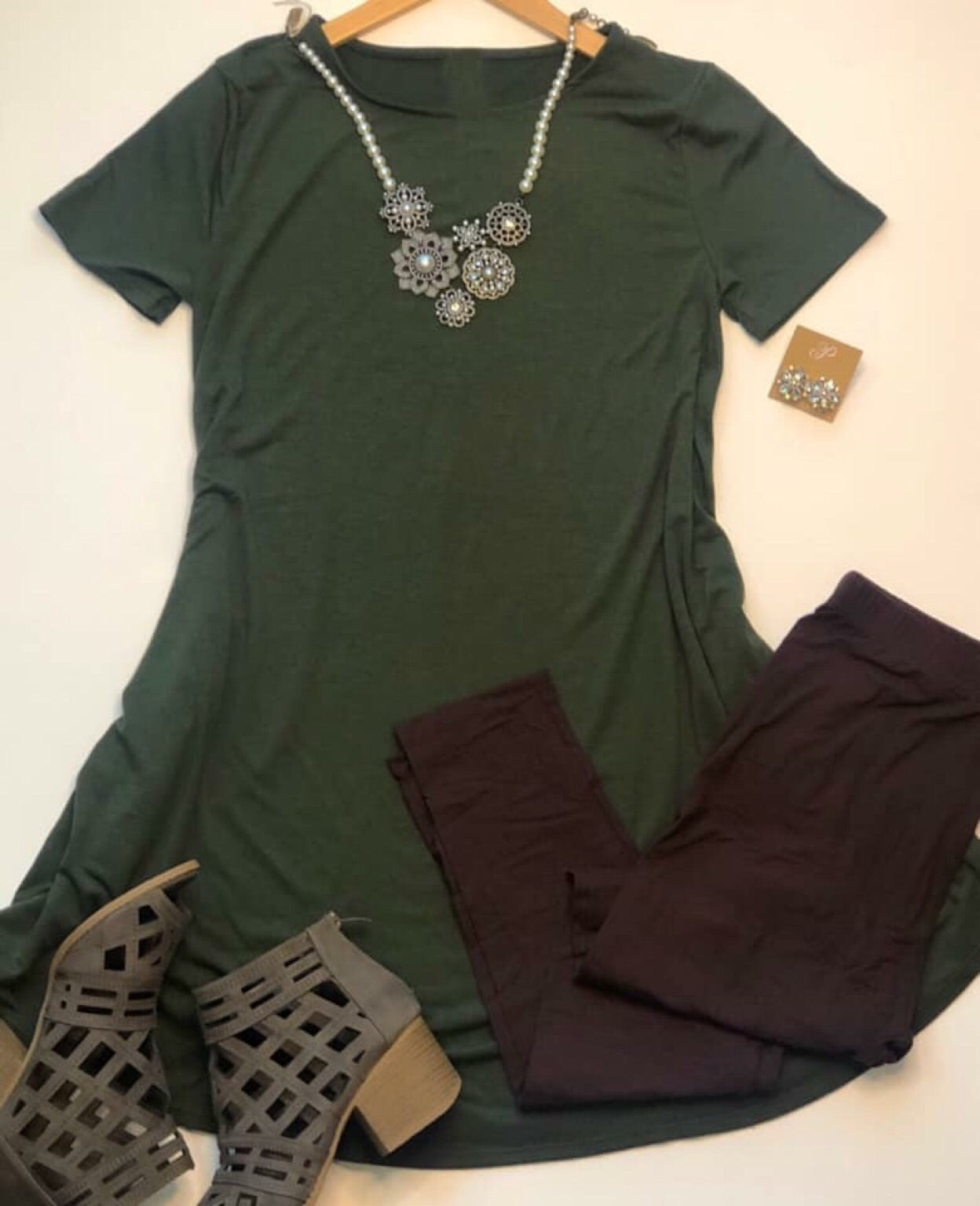 Everyday Fave Army Green Tunic Dress