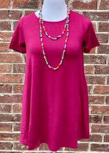 Everyday Fave Burgundy Tunic Dress