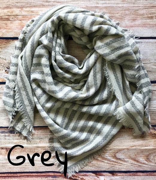 Striped Blanket Scarf *Multiple Colors*