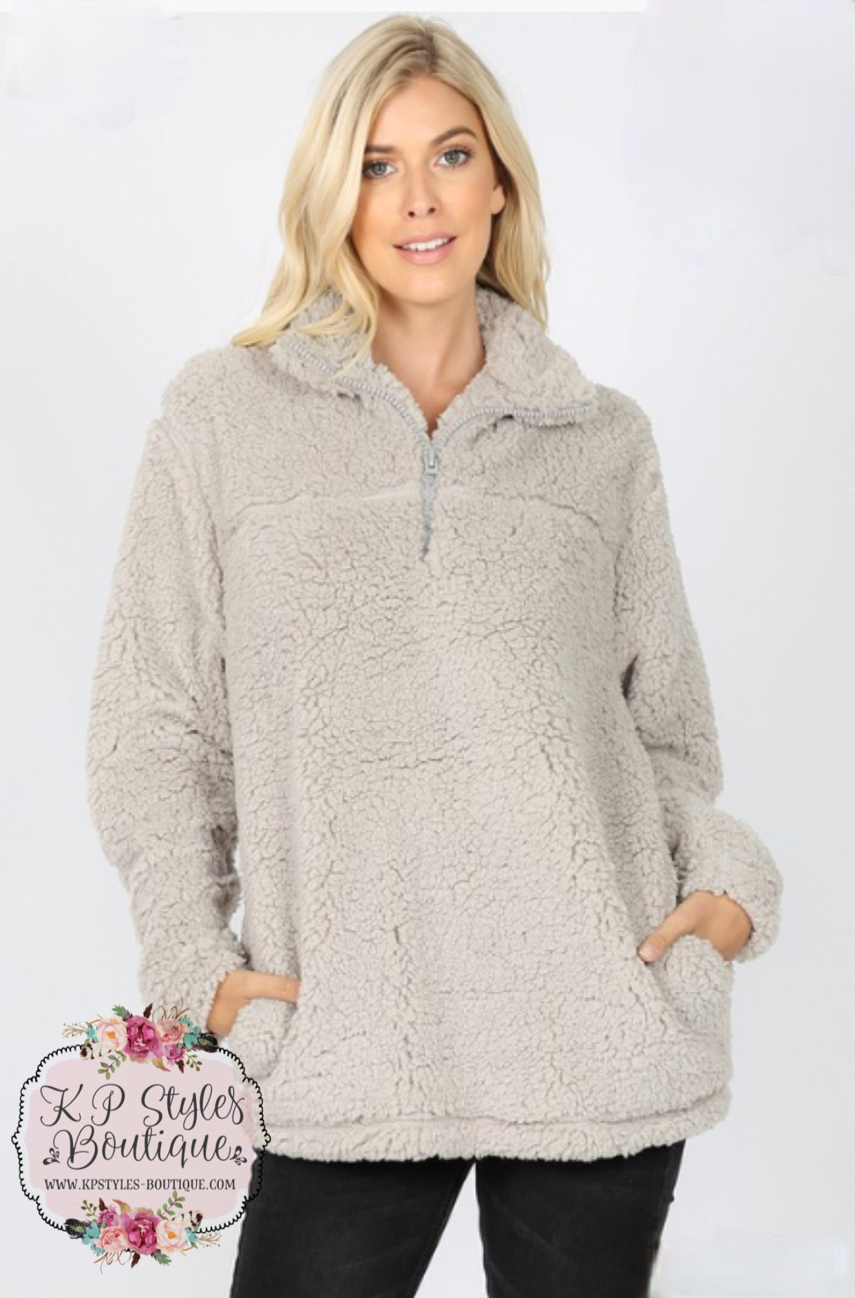 Comfy & Cozy Light Gray Sherpa