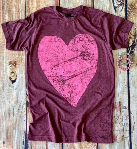 All About Love Burgundy Tee Shirt
