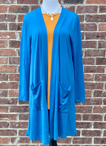 Blue Mist Slouchy Pocket Cardigan {Plus Size}