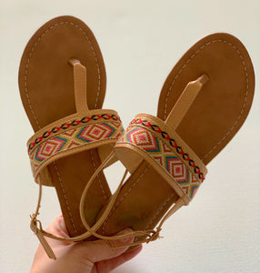Roam West Nude Sandals