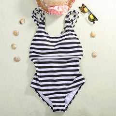 Black Striped One Piece