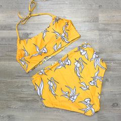 Yellow High Waist Bikini