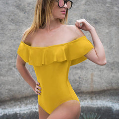 Strapless Ruffle One Piece