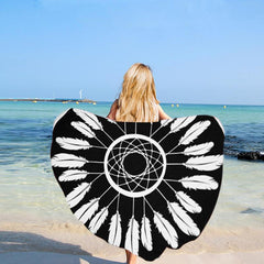 Boho Feathers Beach Towel