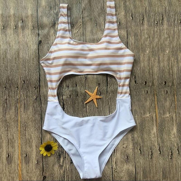 Kathy Striped One Piece