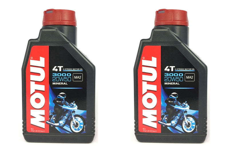 2 Containers Motul 3000 4T Motorcycle Oil 107318 1 Liters