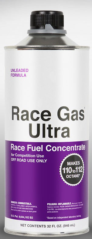 Race Gas Ultra Fuel Additive Turn Pump Gas into Race Gas! Up to 112 Octane 32oz