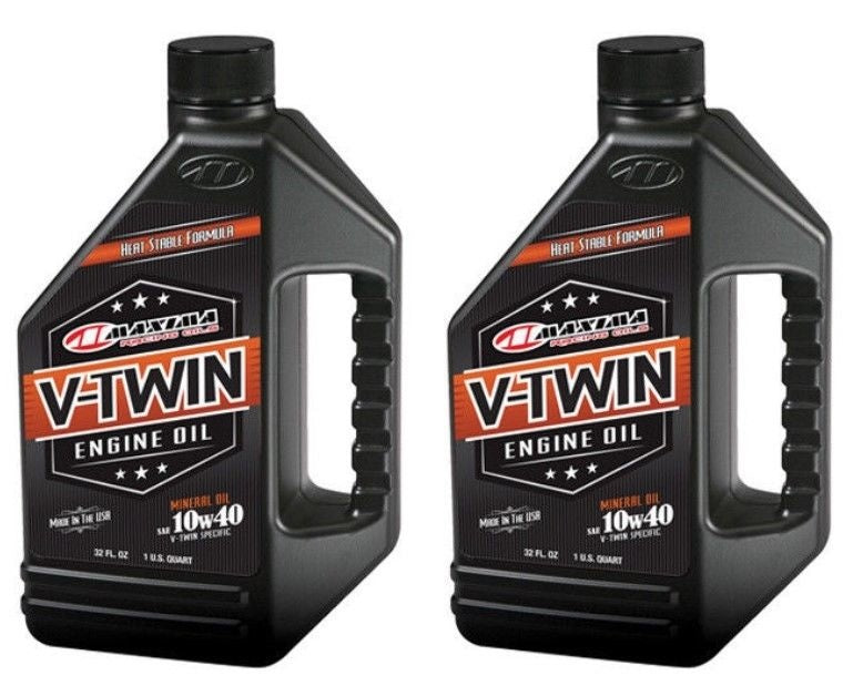 Qty. 2 of V-Twin Mineral 10w40 32oz Maxima 30-05901