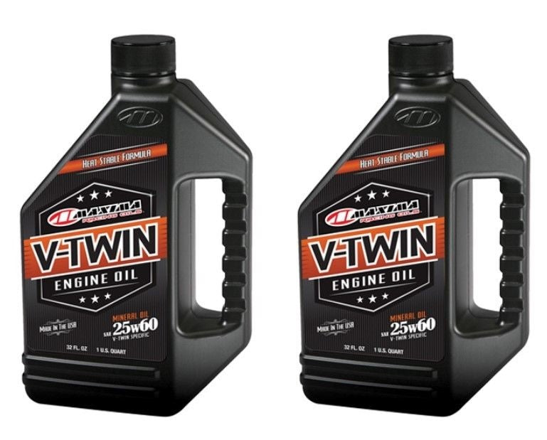 Qty. 2 of V-Twin Mineral 25w60 32oz Maxima 30-15901