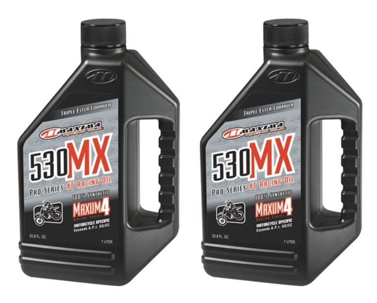 Qty 2 MAXIMA 530MX SYNTHETIC RACING OIL 5W30 90901 - Qty 2 of 1 Liter