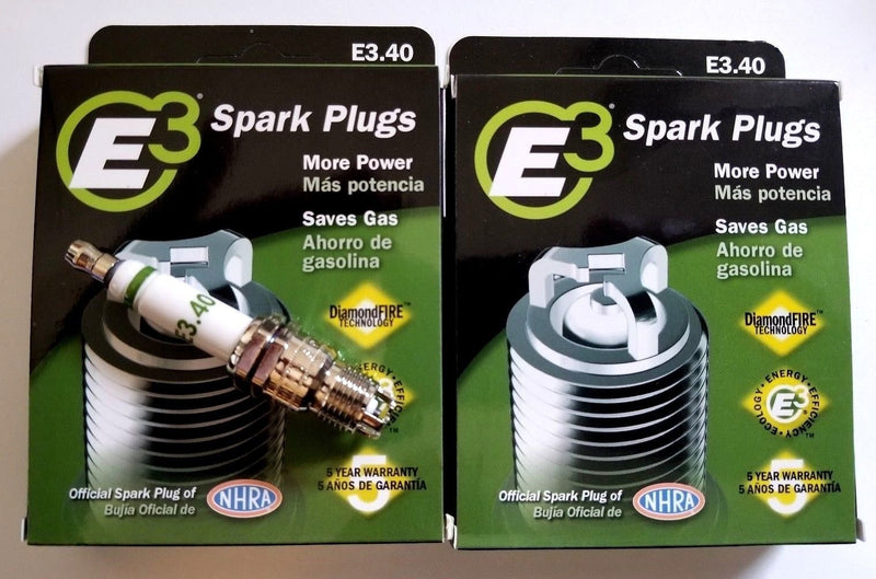 E3.40 E3 Premium Automotive Spark Plugs - 8 SPARK PLUGS part 100,000 Miles or 5