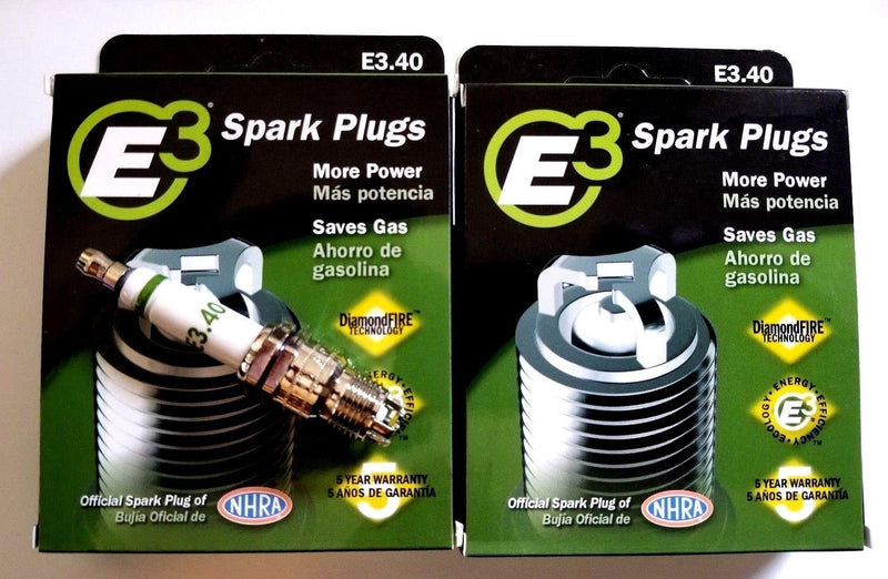 E3.40 E3 Premium Automotive Spark Plugs - 8 SPARK PLUGS 100,000 Miles or 5 Years
